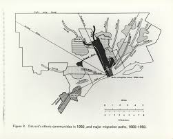 Metro Detroit Map by Map Ethnic Migrations In Detroit 1900 U2013 1950 Detroitography