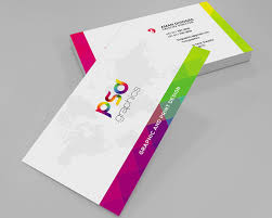colorful business card free psd graphics business cards design