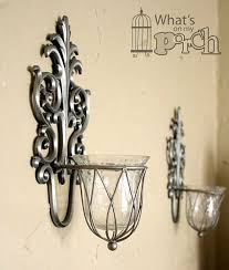 Candle Holder Wall Sconces Amazing Silver Wall Sconce Candle Holder Hurricane Wall Sconce