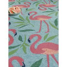 5x8 Indoor Outdoor Rug by Fancy Flamingo Indoor Outdoor Rug Shades Of Light