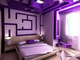 außergewöhnliche wandgestaltung luxus lila schlafzimmer einrichtungsideen für eitle damen