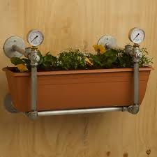 wall mounted planter plumbing pipe wall mounted garden bed
