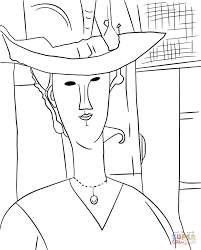 madame pompadour by amedeo modigliani coloring page free