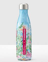 swell starbucks lilly pulitzer limited edition lilly pulitzer starbucks s well water bottles it