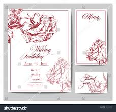 Boarding Pass Save The Date Wedding Invitation Cards Blooming Roses Use Stock Vector 436434754