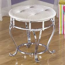 Vanity Bench For Bathroom by Vanity Stool For Bathroom Bedroom Chair White Bench Bath Silver
