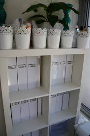 home office use these ikea planters to hold stationery office