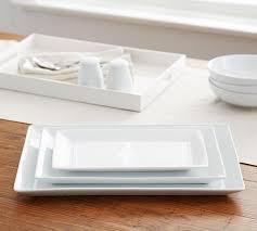 great white rectangular serving platters pottery barn