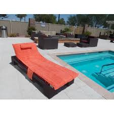 Lounge Chair Towel Covers Cover Up Towel Sun Towel Orange Lounge Beach Pool Chair Cover