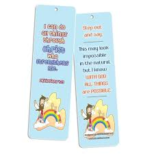 christian bookmarks for kids 60 pack scripture bible verses