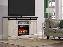 Electric Fireplace Tv Stand Hogan Electric Fireplace Tv Stand In Weathered White