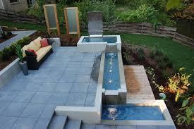 garden wooden table contemporary garden backyard ideas sofa