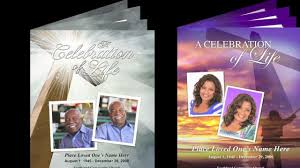 free sle funeral programs templates funeral program endearing template funeralprinter