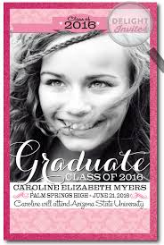 2016 pink graduation announcement grad invitations for di