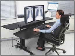 Good Computer Desk by Multiple Monitor Computer Desk Desk Home Design Ideas