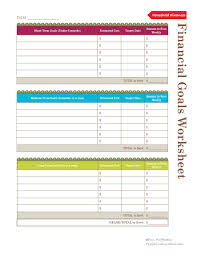 Setting Worksheets Use This Financial Goals Worksheet