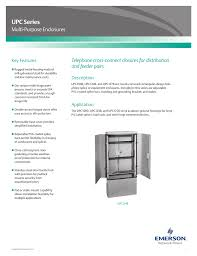 emerson upc series multi purpose closures brochures and data sheets
