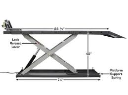 Motorcycle Lift Table by Atlas Eml 1200 Electric Motorcycle Lift 1200 Lbs Capacity Gses