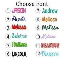 personalized name personalized name decal sticker gloss vinyl for yeti