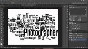 how to make a word cloud in photoshop youtube