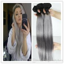 human hair extensions silver grey human hair extensions 7a gray hair