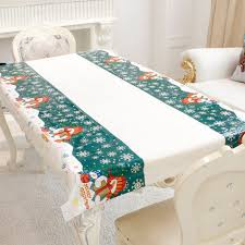 nappe de cuisine rectangulaire jetable de noël nappe pvc oilproof cuisine table à manger tissu