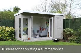 Garden Building Ideas 10 Ideas For Decorating A Summerhouse Waltons Waltons Sheds