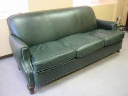 Green Leather Sectional Sofa Traditional Green Leather Sofa Conklin Office Furniture With Green