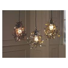 silver pendant light shade garland copper etched metal floral ceiling light shade buy now at