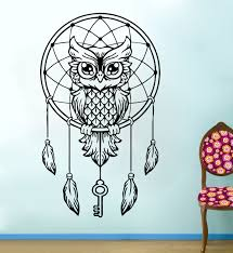 Owl Wall Sticker Online Get Cheap Owl Dream Catcher Wall Stickers Aliexpress Com