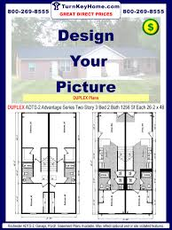 duplex adst 2 3 2 1256 sf each ranch plan rochester homes
