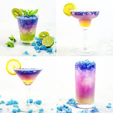 blue raspberry margarita magical color changing cocktails galaxy cocktails the flavor