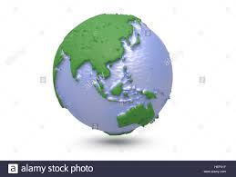 3d World Map by Earth World Map Polygonal Globe Asia 3d Illustration Stock