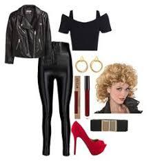 Sandy Danny Grease Halloween Costumes Bad Sandy Deluxe Faux Leather Bird Jacket Jennifer Lessenthien