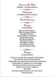 Order Of Wedding Program Order Of Wedding Ceremony Mesmerizing Wedding Ceremony Order Of