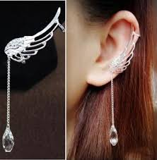 cool ear rings 2018 fashion angel wing earrings drop dangle ear