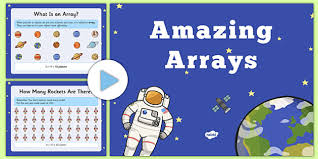 amazing arrays powerpoint array counting maths space