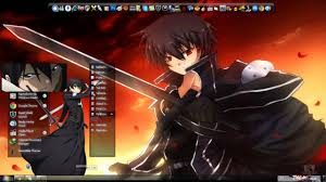 theme google chrome sword art online tema para window 7 de kirito de la serie sword art online by