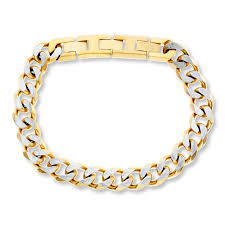 stainless steel chain bracelet images Men 39 s curb chain bracelet stainless steel 10 quot length 508076609 kay jpg