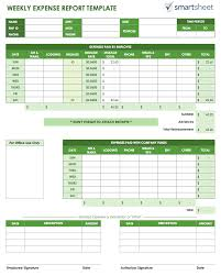 fuel report template free expense report templates smartsheet