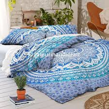 What Size Is A Full Size Comforter Amazon Com Exclusive Blue Ombre Mandala Duvet Cover With