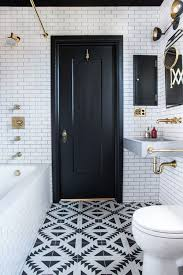 bathroom black and white black and white and gold in the bathroom apartment therapy