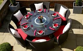 6 Chair Patio Dining Set Best Round Outdoor Dining Table For 6 Outside Table And 6 Chairs