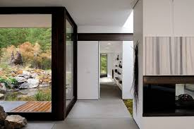 painting behind tv hall contemporary with building design cotton