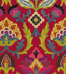 embroidered home decor fabric waverly upholstery fabric 54 isadora fiesta joann