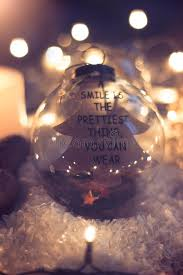 lights you can wear christmas and new year background glass ball with quote a smile