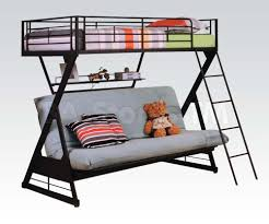 Bedroom Fancy Twin Over Futon Bunk Bed For Kids And Teens Bedroom - Metal bunk bed futon combo