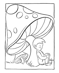 fantasy coloring pages pixie mushroom fairy tales