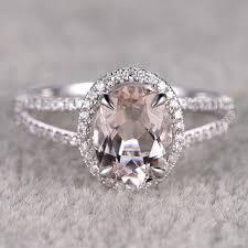 morganite engagement ring white gold best white gold morganite engagement ring products on wanelo