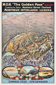 map of montreux vintage swiss map montreux interlaken lucerne 1920s golden pass